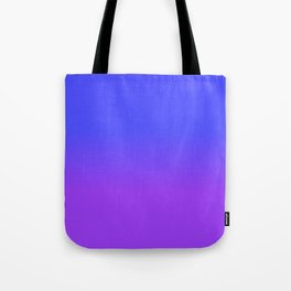 Neon Purple and Bright Neon Blue Ombré Shade Color Fade Tote Bag