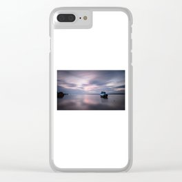 Loughor estuary boat Clear iPhone Case