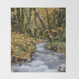 Tillamook In The Fall Throw Blanket