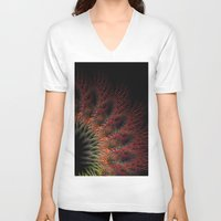 terry fan V-neck T-shirts featuring Fan by LoRo  Art & Pictures
