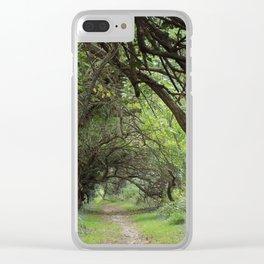 Wye Island Tree Tunnel | Eastern Shore, Maryland Clear iPhone Case