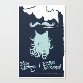 Zach Caddy Gig Poster Canvas Print