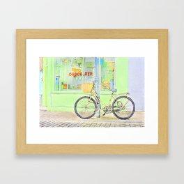 Chocolate Cafe colour Framed Art Print