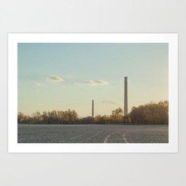 Smoke Stacks Art Print