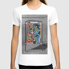 Black and White Street Art Color Photography Poster in Bologna T-shirt