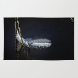 Feather on Water Rug