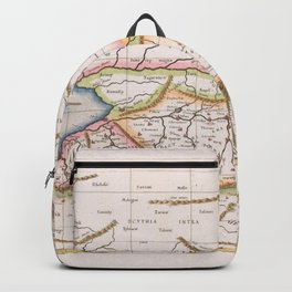 Vintage Map Print - 1698 Map of Central Asia Backpack