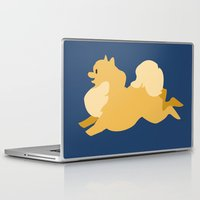 pomeranian Laptop & iPad Skins featuring Precious Pomeranian Primary by Emily Woodson