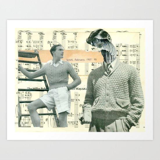Spinning Yarns Art Print