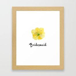 Bridesmaid Yellow Flower Framed Art Print