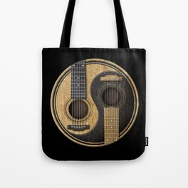 Aged Vintage Acoustic Guitars Yin Yang Tote Bag