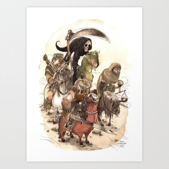 Four Horsemen Art Print