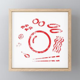 Ramen Ingredients Framed Mini Art Print