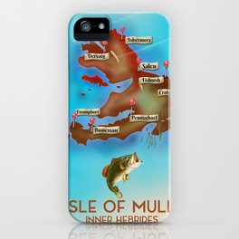Isle of Mull travel poster. iPhone Case