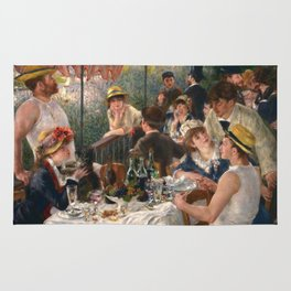 """Auguste Renoir """"Luncheon of the Boating Party"""" Rug"""
