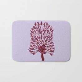 Skeleton Heart Hawthorn Tree Bath Mat
