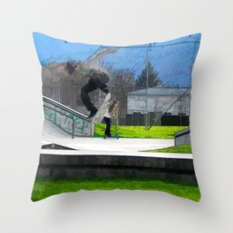 Skateboarding Fool Throw Pillow