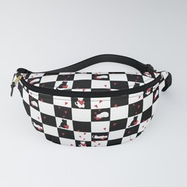 Cat Love Checkers Fanny Pack