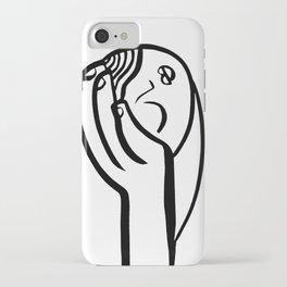 sleeping girl iPhone Case