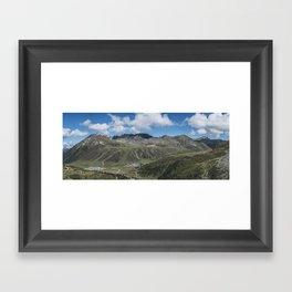 Alpine Panorama // Kühtai Glacier // Austria Framed Art Print