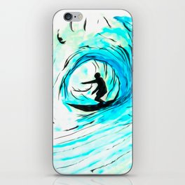 Solo - Surfing the big blue wave iPhone Skin