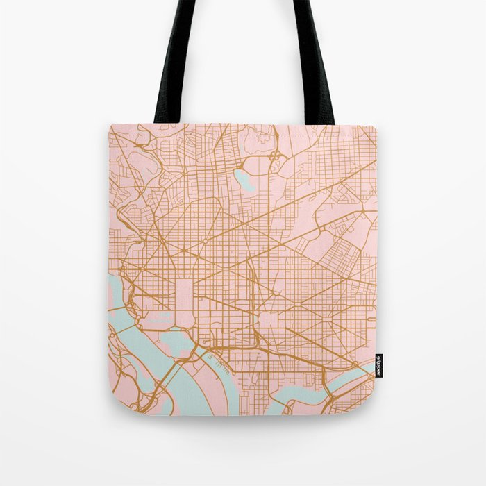 Washington DC map Tote Bag