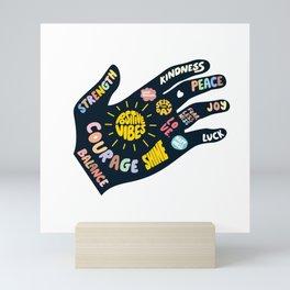 Positivity – Helping Hand Mini Art Print
