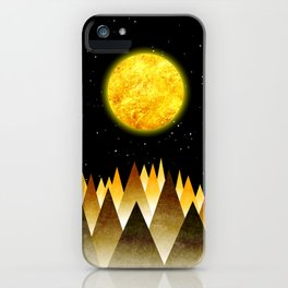 Golden World iPhone Case