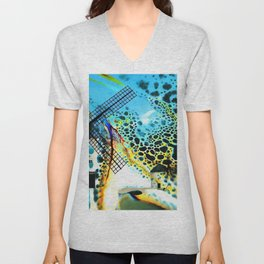 Windmills of La Mancha Unisex V-Neck