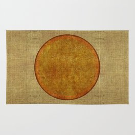 """Golden Circle Japanese Inspiration"" Rug"