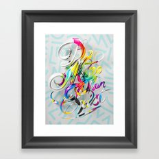 Do More Than Exist Framed Art Print