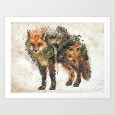The Fox Nature Surrealism Art Print