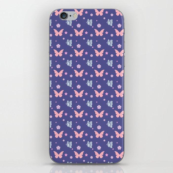 lavanda butterflies iPhone Skin
