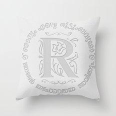 Joshua 24:15 - (Letterpress) Monogram R Throw Pillow