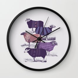 Cool Sweaters Wall Clock