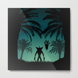 Crash Bandicoot Metal Print