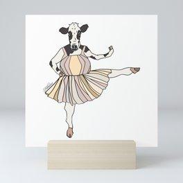Cow Ballerina Tutu Mini Art Print