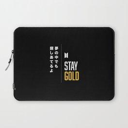 BTS Bangtan Sonyeondan Stay Gold Laptop Sleeve
