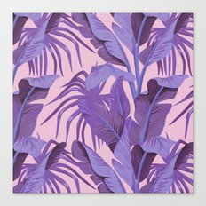 Tropical '17 - Starling [Banana Leaves] Canvas Print