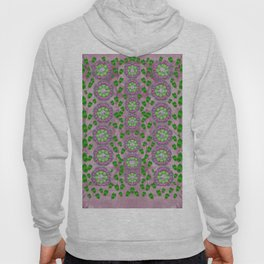 ivy and  holm-oak with fantasy meditative orchid flowers Hoody