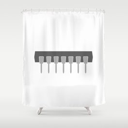 IC dip package Shower Curtain