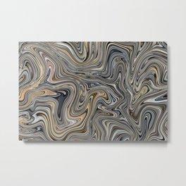 Blue & Beige in Pastel Metal Print