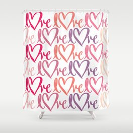Love pattern Shower Curtain