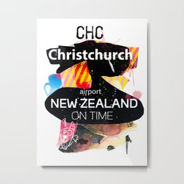 CHC Christchurch airport  Metal Print