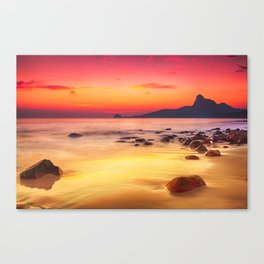 Sunrise over the Beach Canvas Print