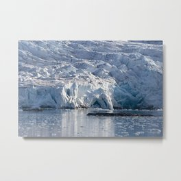 Ice art by nature on glacier and in ocean Metal Print