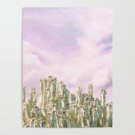 Unicorn Sky Cactus Poster