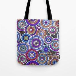 Colorfull Aboriginal Dot Art Pattern Tote Bag