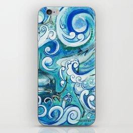 Shark wave iPhone Skin