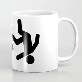 Stickman Throw Coffee Mug
